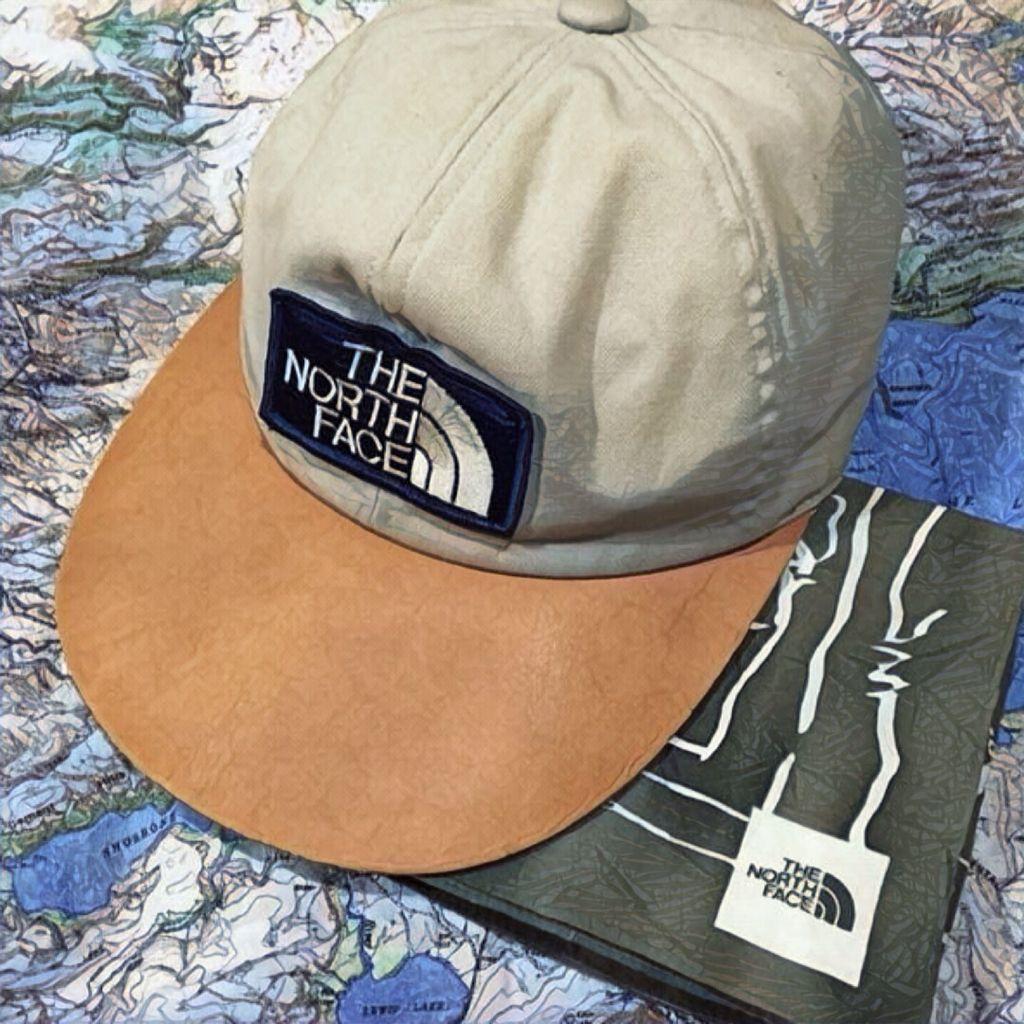 Vintage North Face LongBill Hat Leather Japanese.  3756dec1f7dc