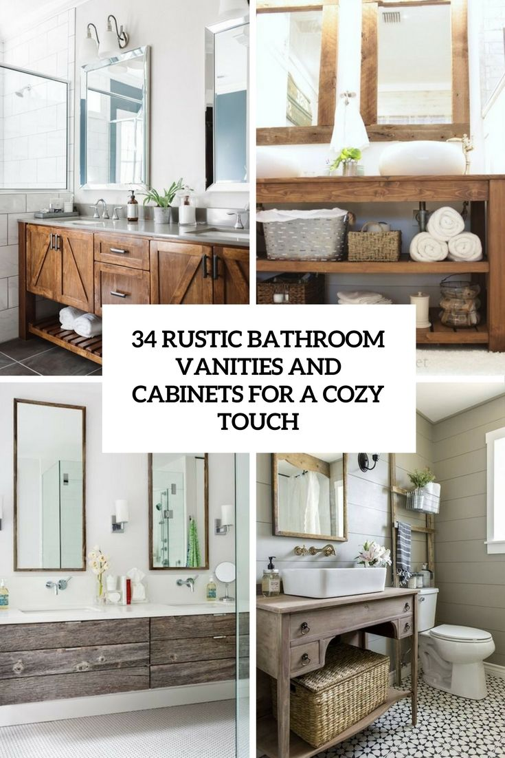 rustic bathroom vanities and cabinets for a cozy touch cover | walsh ...