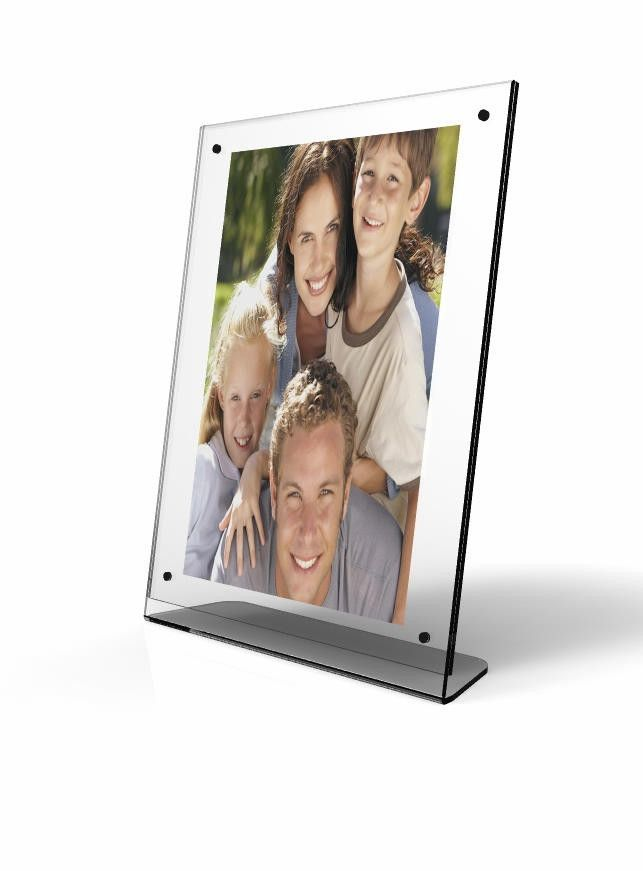 Clear Acrylic Picture Frame, Plexiglass Desktop Sign Holder, Photo ...