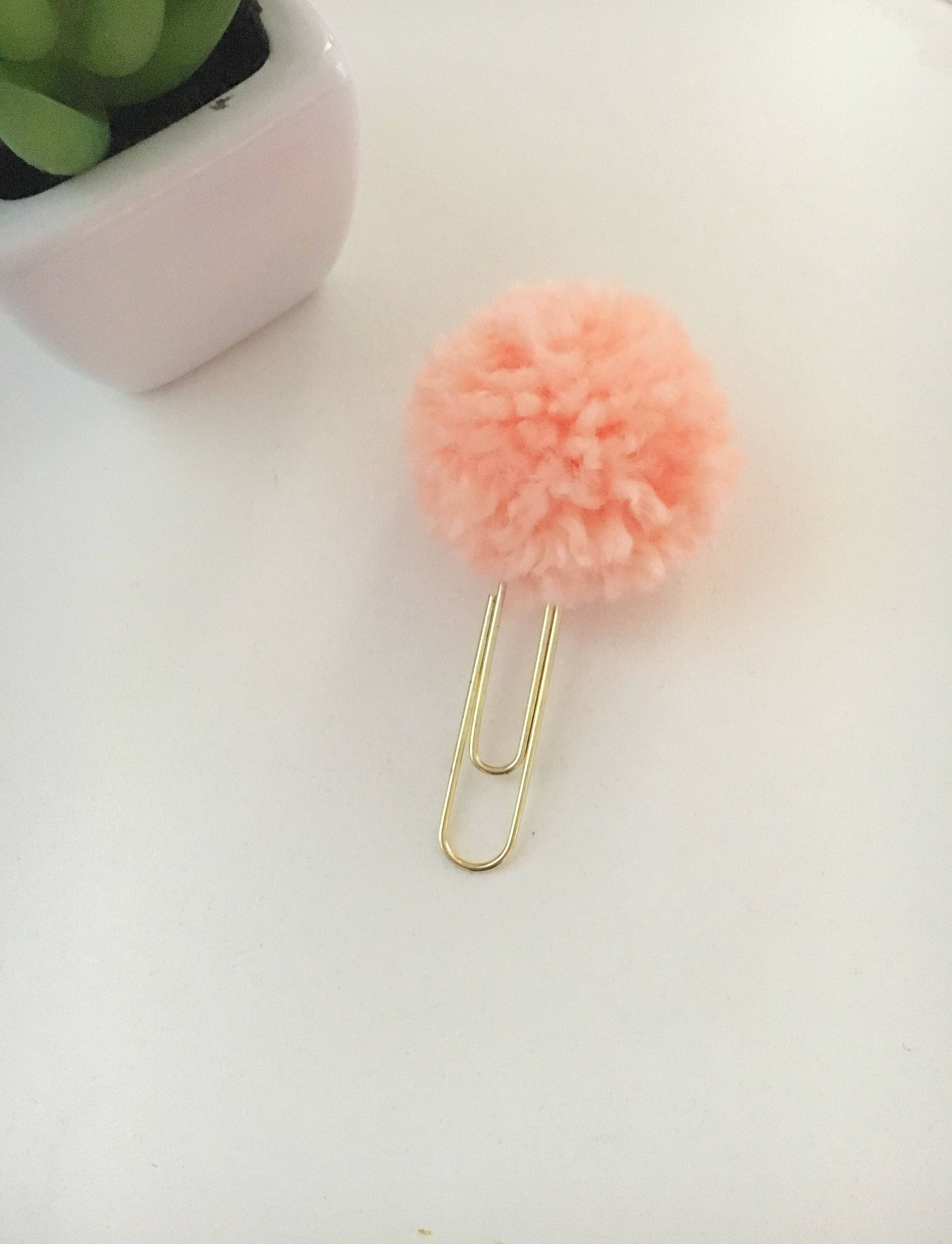 A personal favorite from my Etsy shop https://www.etsy.com/listing/516465912/creamsicle-pom-pom-paper-clip-planner