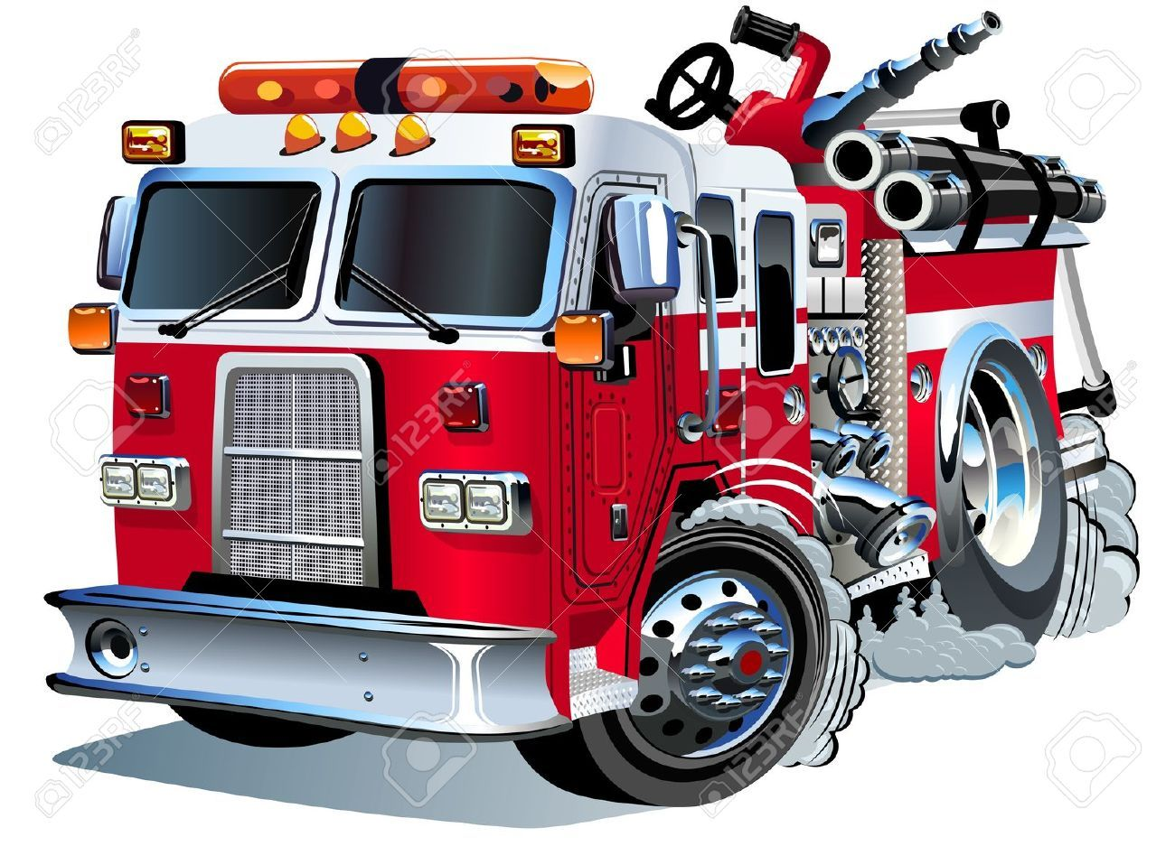 Stock Vector With Images Fire Trucks Fire Engine Trucks