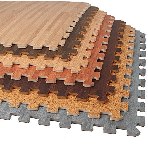 Forest Floor 36 Sq Ft Foam Printed Bamboo Wood Grain Interlocking Anti Fatigue Flooring Mats 9 2 X2 Tiles Foam Floor Tiles Foam Flooring Foam Wood Flooring