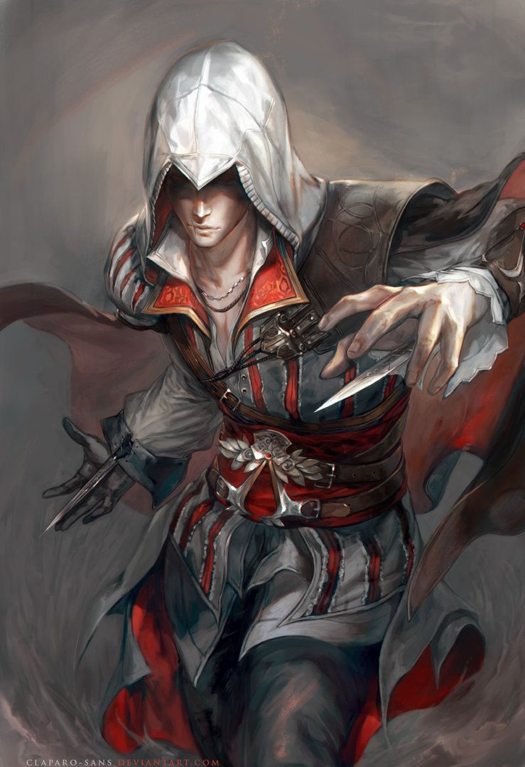 AC II: Ezio by Claparo-Sans.deviantart.com on @DeviantArt
