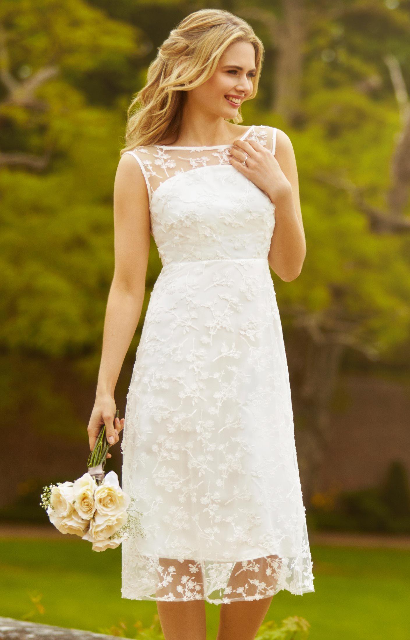 Azalia Midi Wedding Gown Ivory By Alie Street Simple Wedding Dress Casual Midi Wedding Dress Simple Wedding Dress Short [ 2200 x 1408 Pixel ]