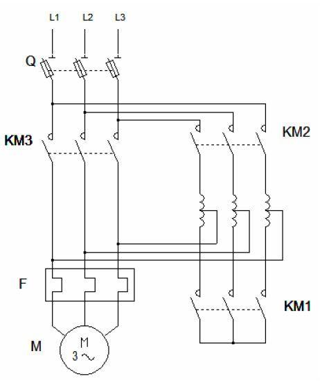 Circuit De Puissance Démarrage Semi Automatique Par Auto