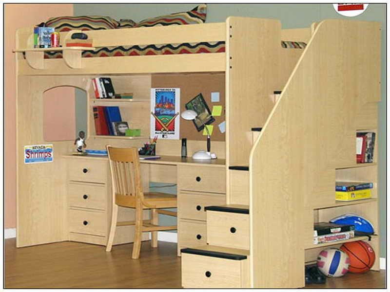 Bedroom Loft Bed With Desk Underneath Plans Full Loft Bed With