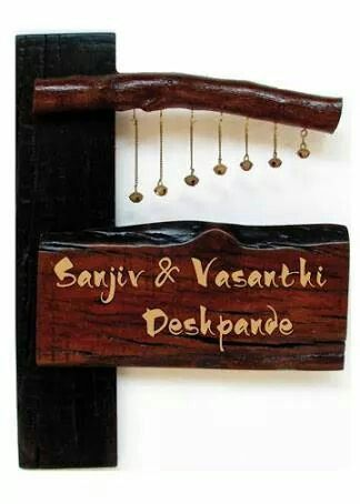 Beautiful Nameplates | For My Home | Pinterest