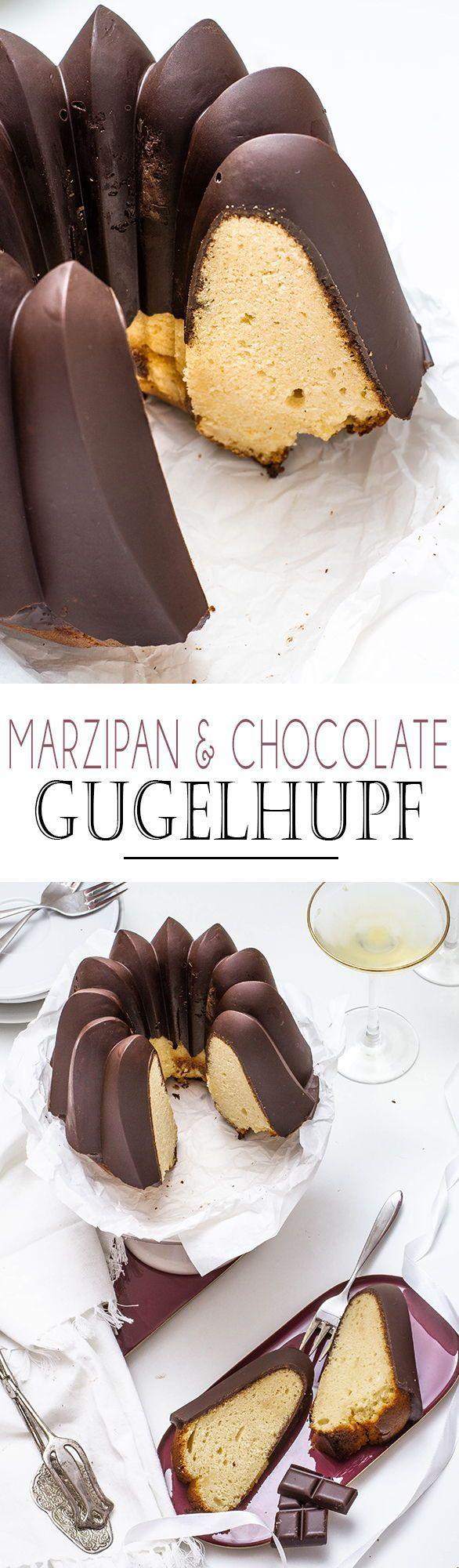 Marzipan Schokoladen Gugelhupf #quatrequart