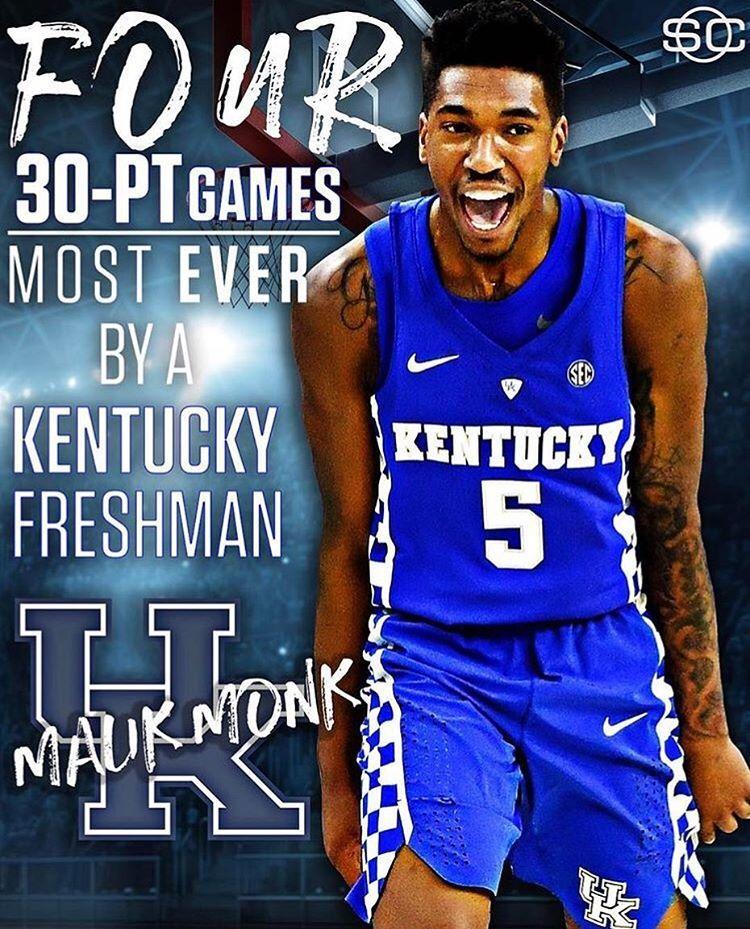 7ed1eb3f322 Malik Monk makes history among Kentucky freshman.  BBN