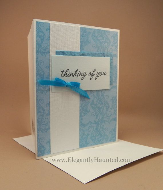 Vintage style blue floral handmade greeting card vintage style vintage style blue floral handmade greeting card vintage style greeting card blank inside 400 m4hsunfo