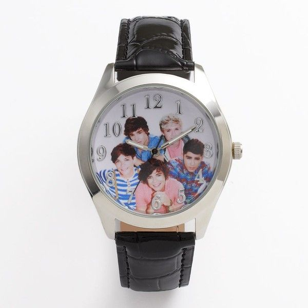 One Direction Silver Tone Watch ($24) ❤ liked on Polyvore