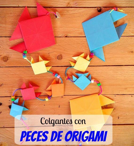 Aprende A Hacer Peces De Origami Y Haz Una Manualidad Con Ellos Como Estos Peces Origami Manualidades Pez De Papel