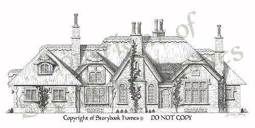 Example custom cottage design floor plans pinterest for Storybookhomes com