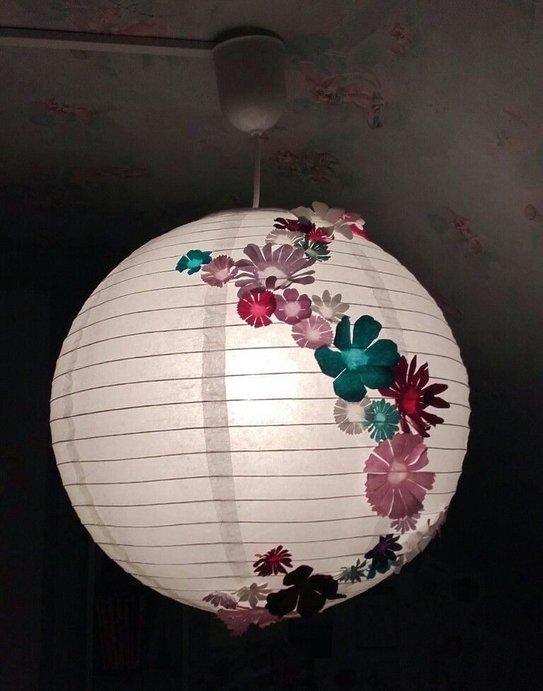 boule chinoise fleurie diy boule chinoise boule. Black Bedroom Furniture Sets. Home Design Ideas