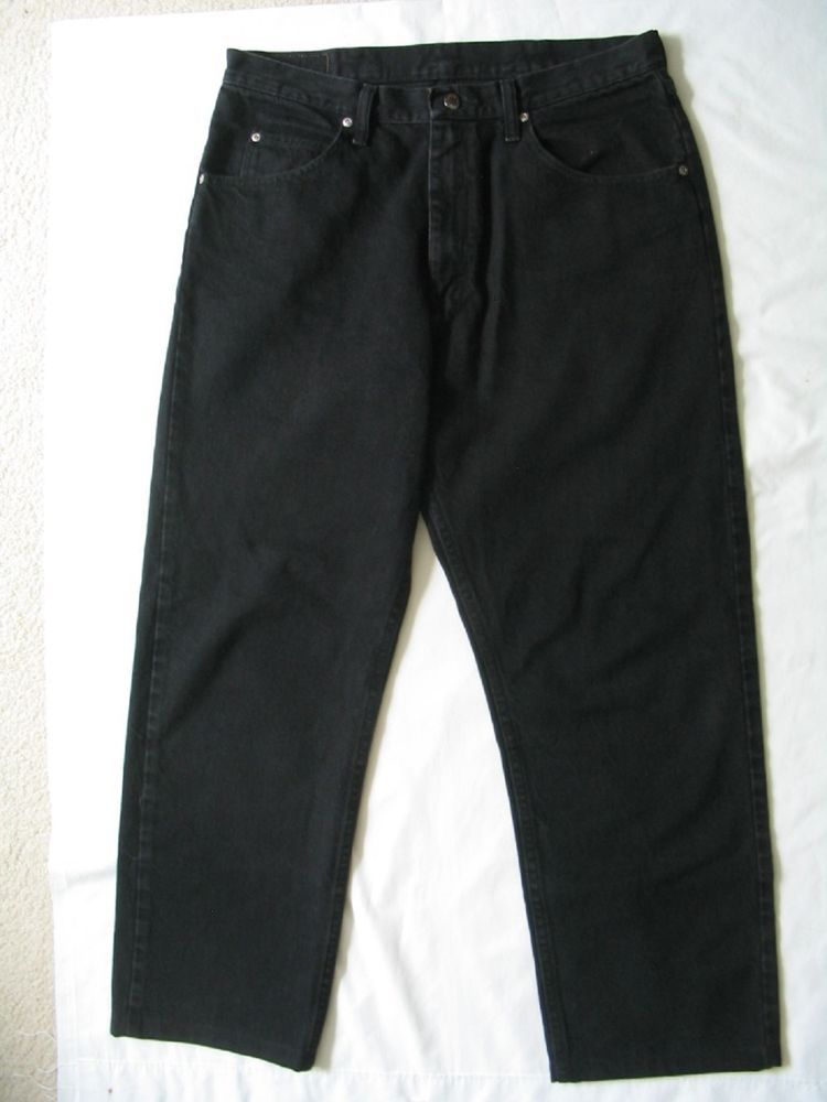 ae597930 WRANGLER Jeans Mens Size 34 x 32 Black Relaxed Fit Comfort 97601CB #Wrangler  #Unknown