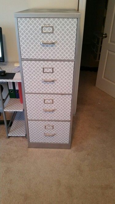 File Cabinet Makeover This Was An Ugly Beige Color Filing