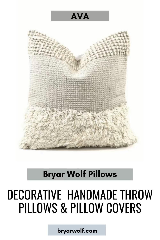 Byrar Wolf Pillows #bryarwolf #decor #homedecor #pillows #pillowdesign