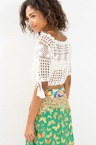 090ab4279bb8 Novidadinhas | FARM | Crochet: Top, blusas, swaters, chalecos ...
