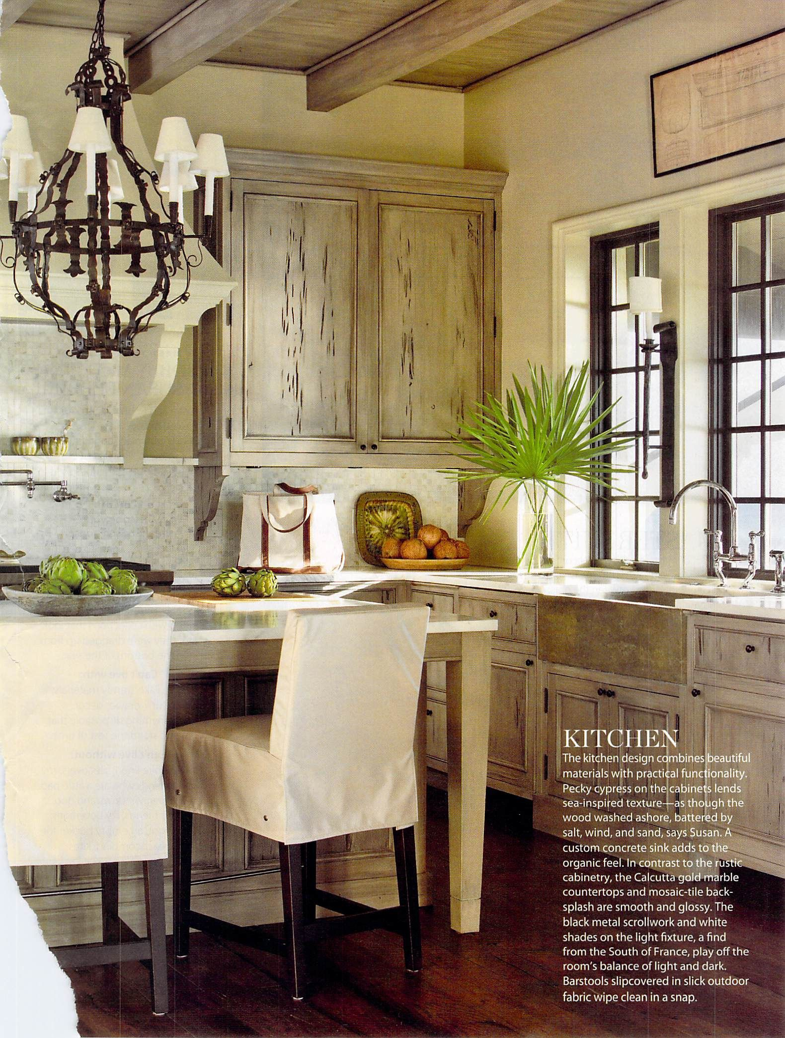 Beautiful Pecky Cypress Cabinets Such A Simple Palette Get The Look At Pecky Www Peckysrq Com Call Us Or Sto Florida Home Decorating Home Rustic Kitchen