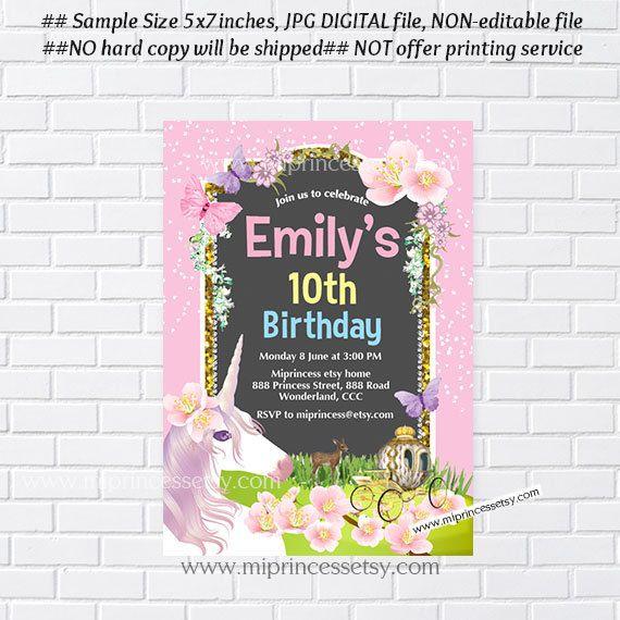Unicorn invites birthday invitation fantasy invitation girl unicorn invites birthday invitation fantasy by miprincess on etsy filmwisefo Choice Image