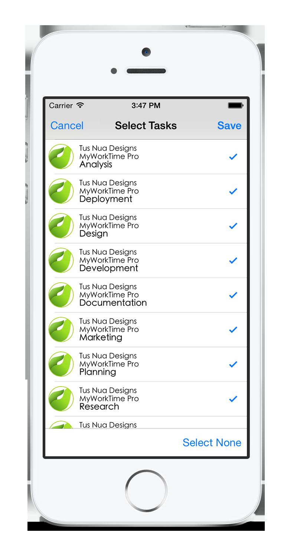 myWorkTime task tracking timesheet app Graphing calculator