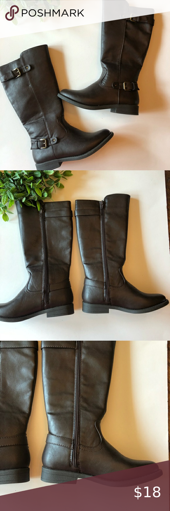 H🤩ST PICK, [NWOT 143] GIRL DARK BROWN BOOTS