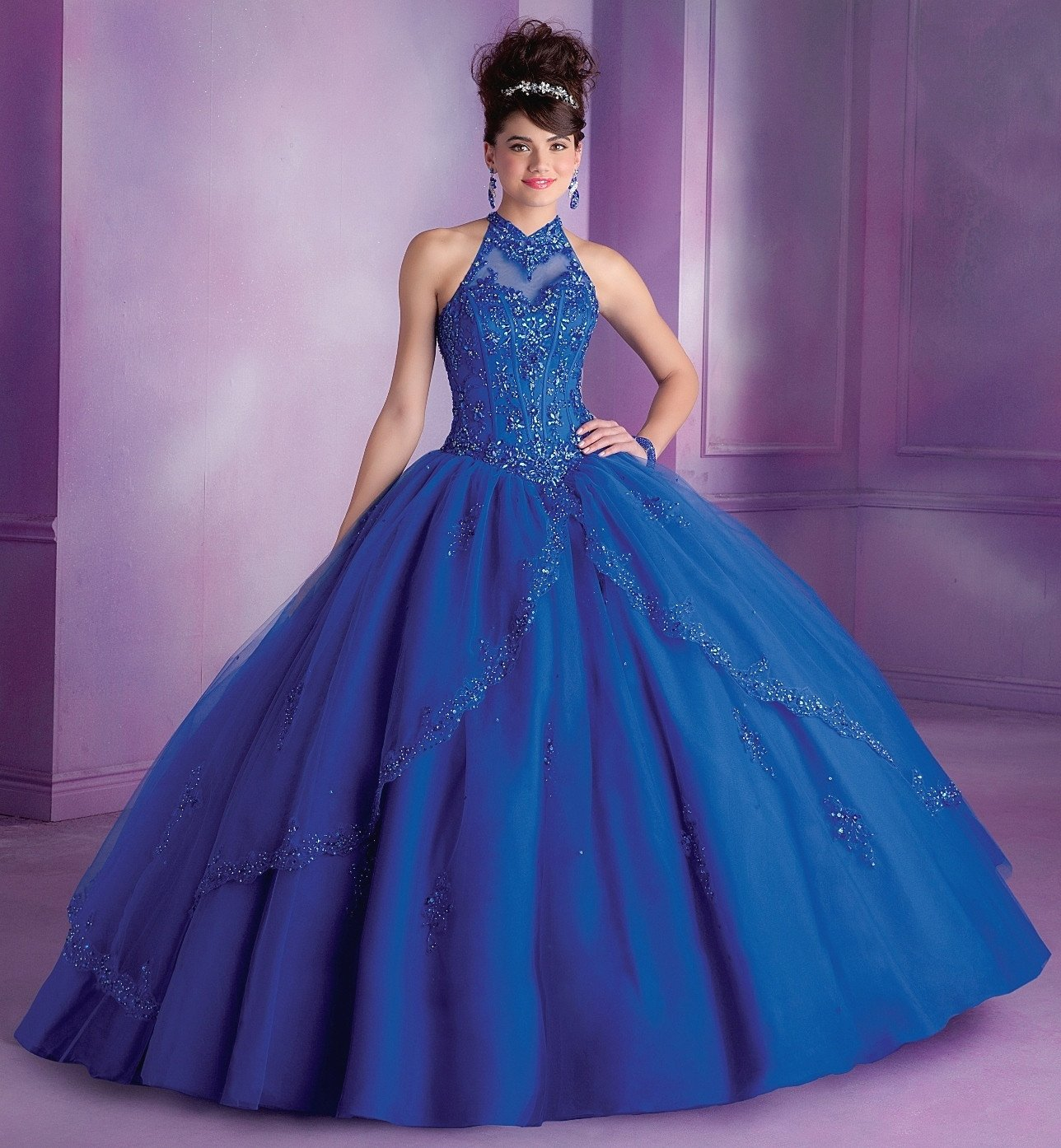 Illusion Halter Quinceanera Dress By Mori Lee Vizcaya