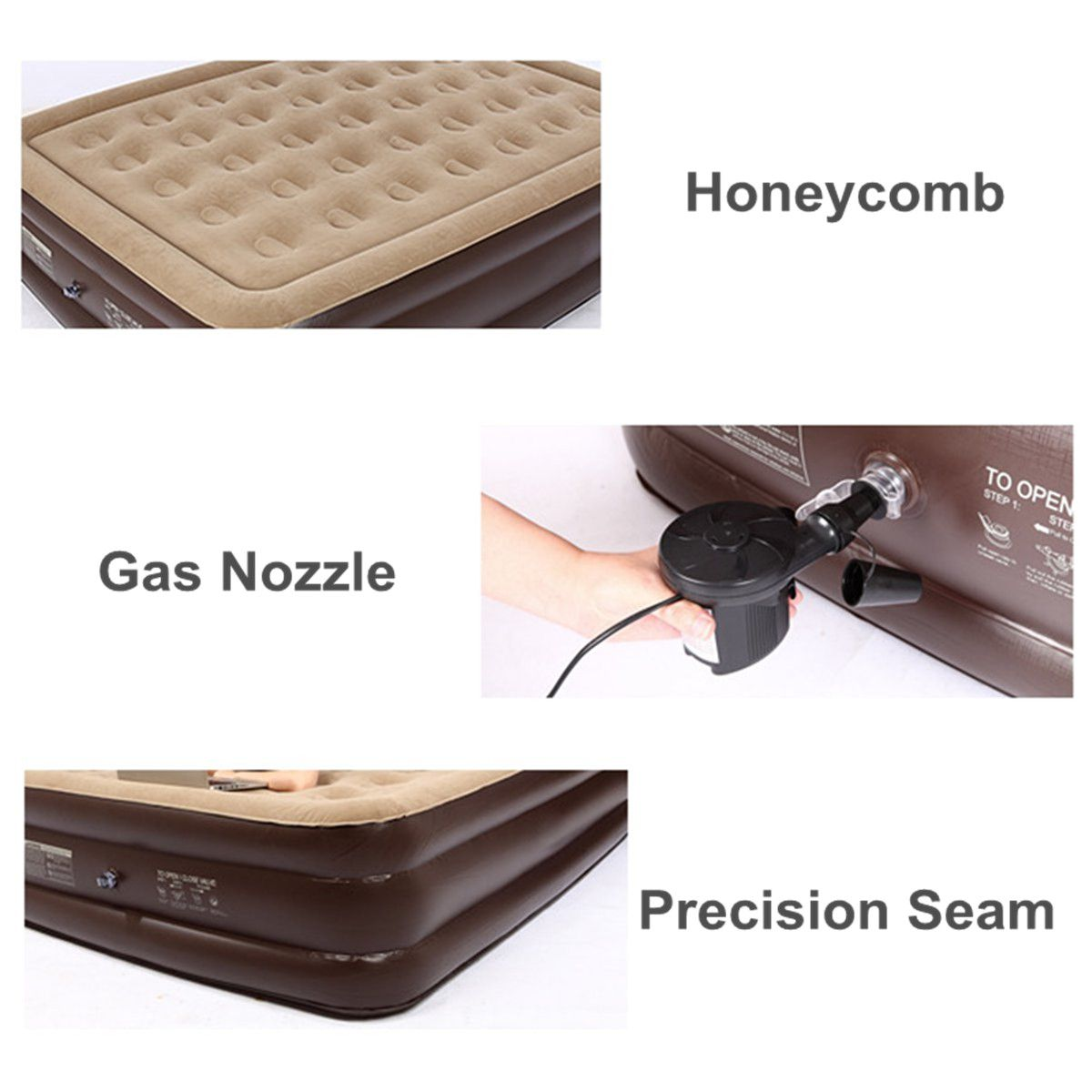 Double Single Luxury Air Bed Inflatable Mattress Couch Sleep Rest Camping Mat Air Bed Inflatable Blow Up Beds Inflatable Mattress Mattress Couch