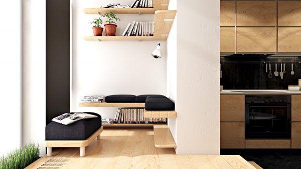 3 small apartments that rock uncommon colour schemes with floor plans