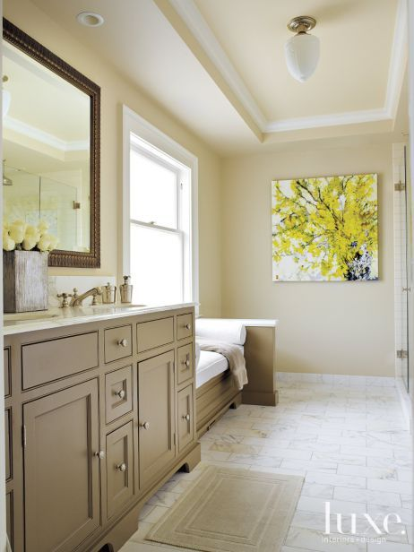 Wondrous Guest Bath Warm Taupe Color For Vanity With Cararra Gold Download Free Architecture Designs Pushbritishbridgeorg