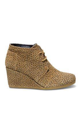 85bf6d15a51 Toms Women s Desert Wedge Bootie - Cheetah - 11M