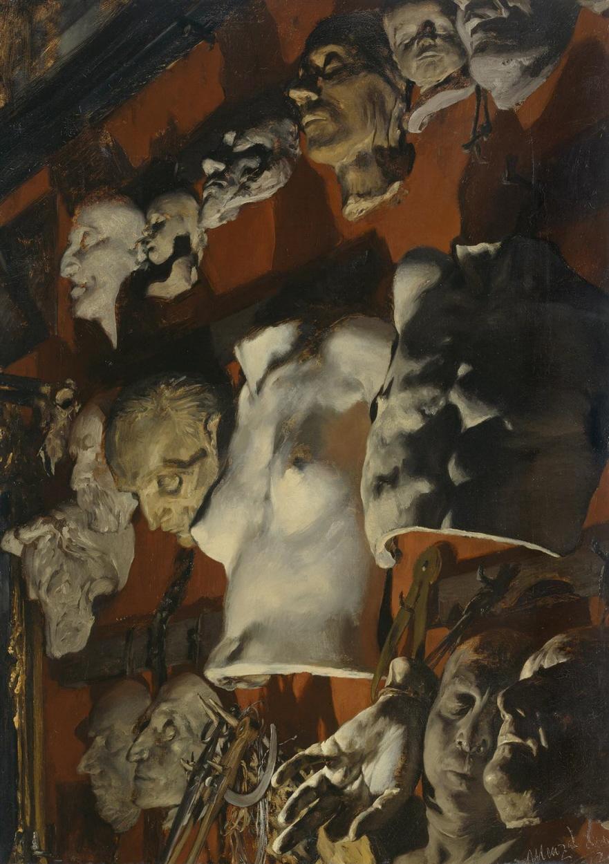 Adolph Menzel Atelierwand 1872 Hamburger Kunsthalle Gruselige Kunst Kunstproduktion Alte Gemalde