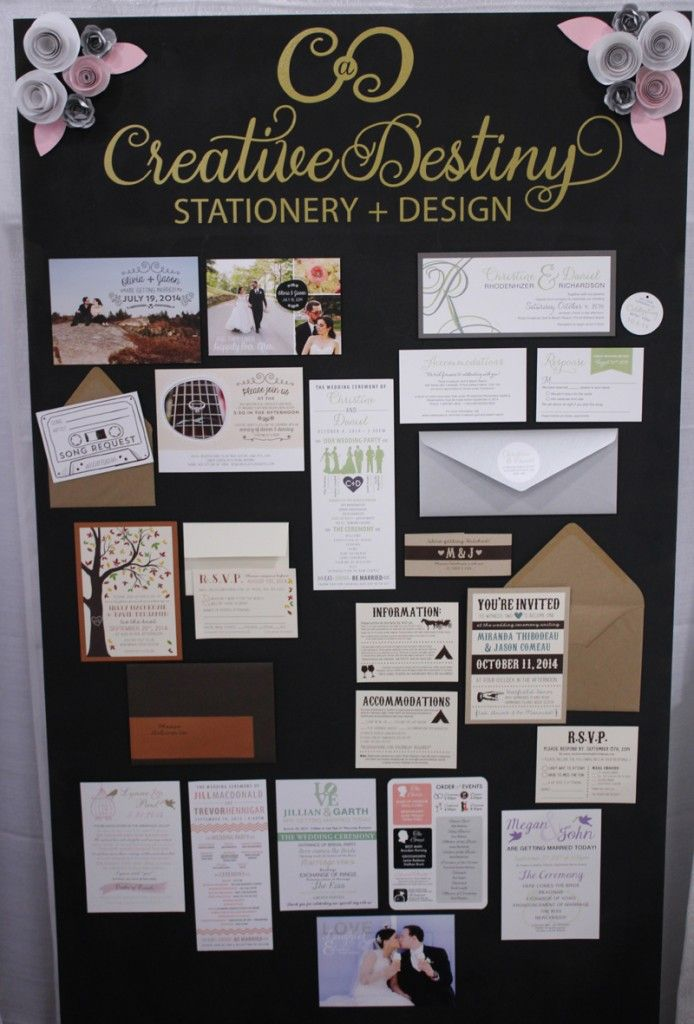 bridal show booth display, stationery booth, atlantic wedding show ...