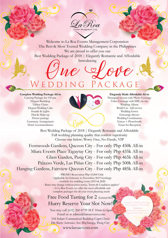 One Love Wedding Package Affordable Complete Wedding Package Philippines Lar A Wedding Planning Organizer Wedding Package Affordable Wedding Packages - Wedding Package, Complete Ithaca Wedding Package The Statler Hotel