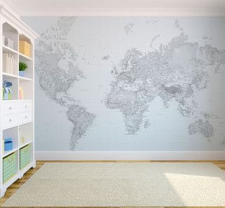 Black and white world map wallpaper eclectic wallpaper london black and white world map wallpaper eclectic wallpaper london by wallpapered gumiabroncs Images