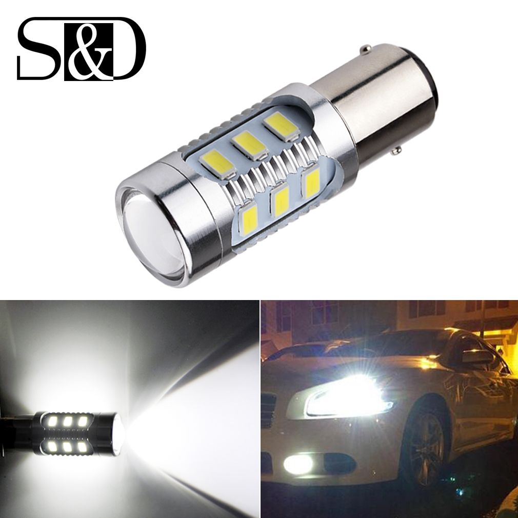 1157 Bay15d Led Car Bulbs 12 Smd Samsung Chip 5630 Cree Chips High Power Lamp 21 5w Rear Lights Source Parking White 12v Led Car Bulbs Bulb Car Headlight Bulbs