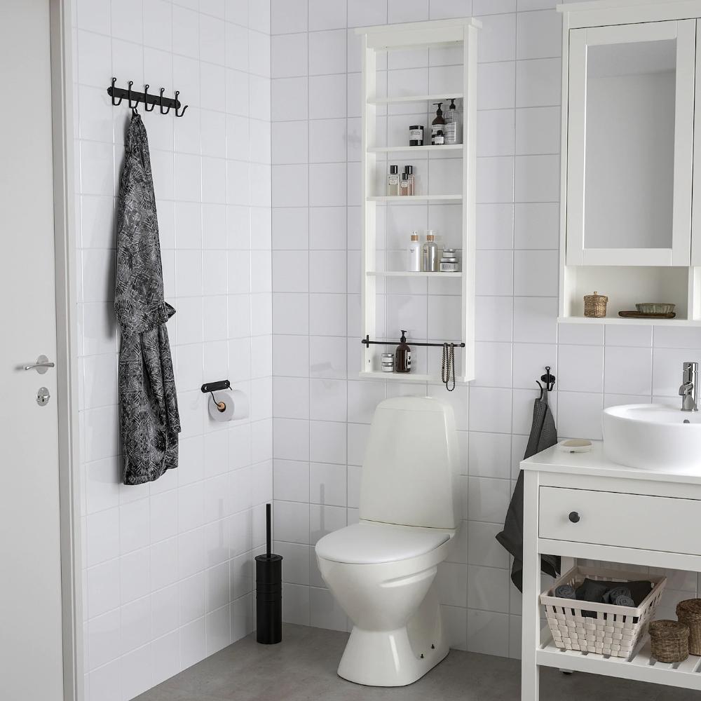 Hemnes Wall Shelf White 16 1 2x46 1 2 Ikea Hemnes Wall Shelves Small Bathroom