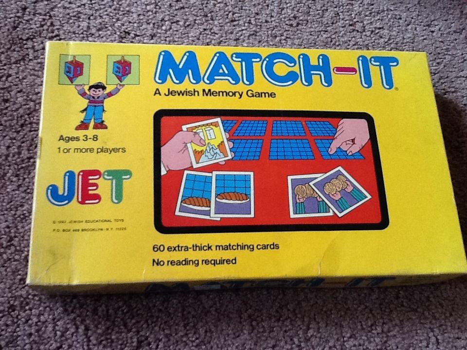 Memory jewish match it memory games matching cards