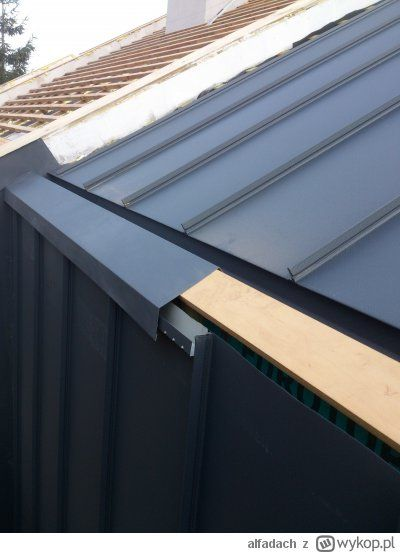 Relacja 54 Dzien 168 Do Parapetowki 57 Dni House Cladding Architecture Details Roof Architecture
