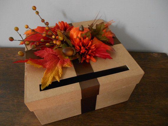 Rustic Fall Custom Wedding Card Box Autumn By
