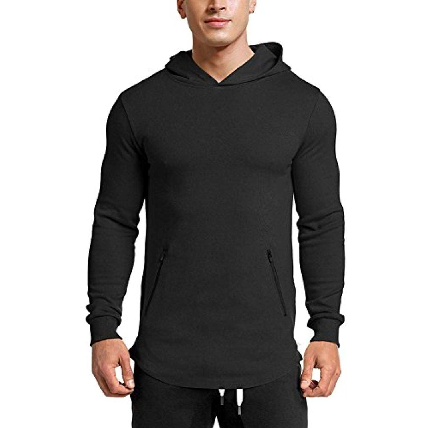 e1fc63f63 LANGCHEN Men s Gym Workout Hoodie Training Sports Pullover with Zipper  Pockets Hoody -- Click image for more details. (This is an affiliate link)    ...