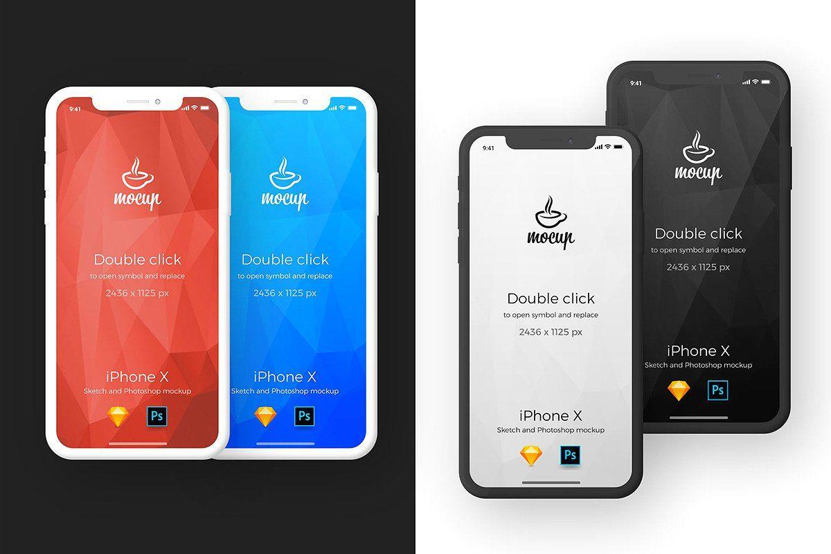 Iphone X App Mockups Iphone Mockup Psd Iphone Mobile App Design