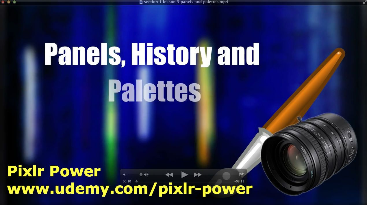 This video covers the main panels and palettes from the Pixlr interface: The History panel, The Navigator and the Layers Panel. Pixlr Power: www.udemy.com/pixlr-power #pixlr #tutorials  #photoediting