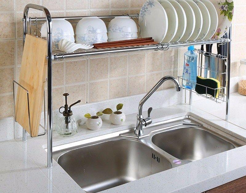 Rak Piring Anti Basah Untuk Desain Dapur Kecil Kitchen Minimalis