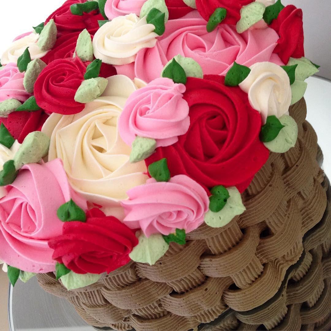 Cake Design Prato : Cesta de flores! Essa pesou cerca de 2kg e foi montada em ...
