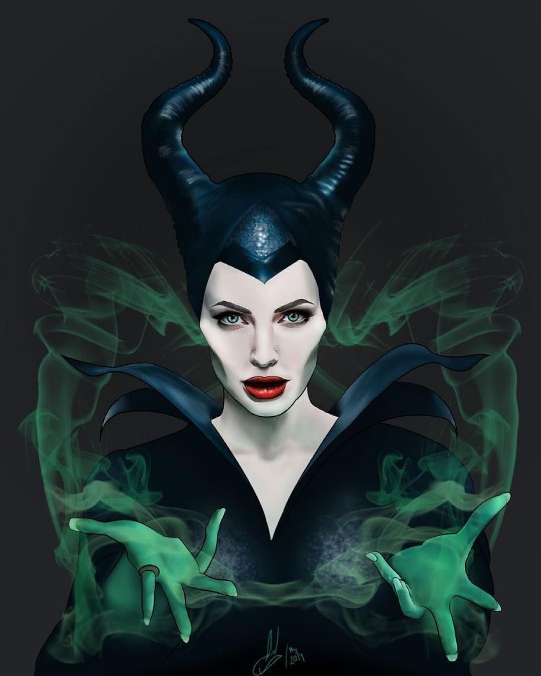 Ghoulish Maleficent Art Piece By Jin Escobar Maleficent