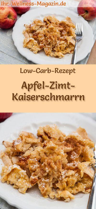 LowCarbRezept für ApfelZimtKaiserschmarrn Kohlenhydratarme süße Pfannkuchen  gesund kalorienreduziert ohne Getreidemehl zuckerfrei  Rezepte Low Carb Apfel...