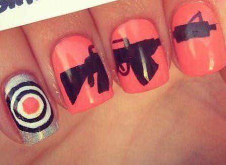 Target Practice Nails Country Nails Country Girl Nails Hunting Nails