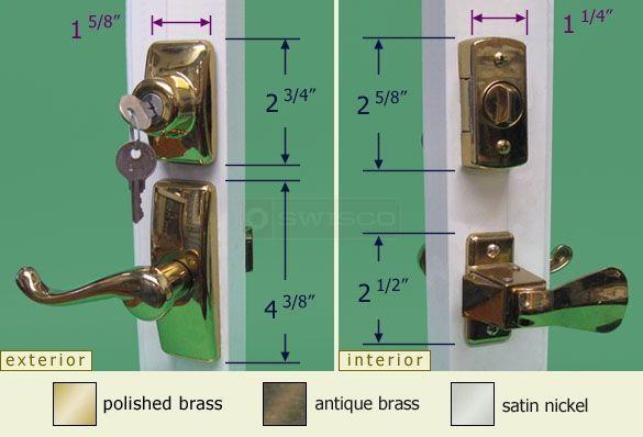 40 058 Lever Handle With Deadbolt Set Deadbolt Storm Door Hardware Storm Door Handle
