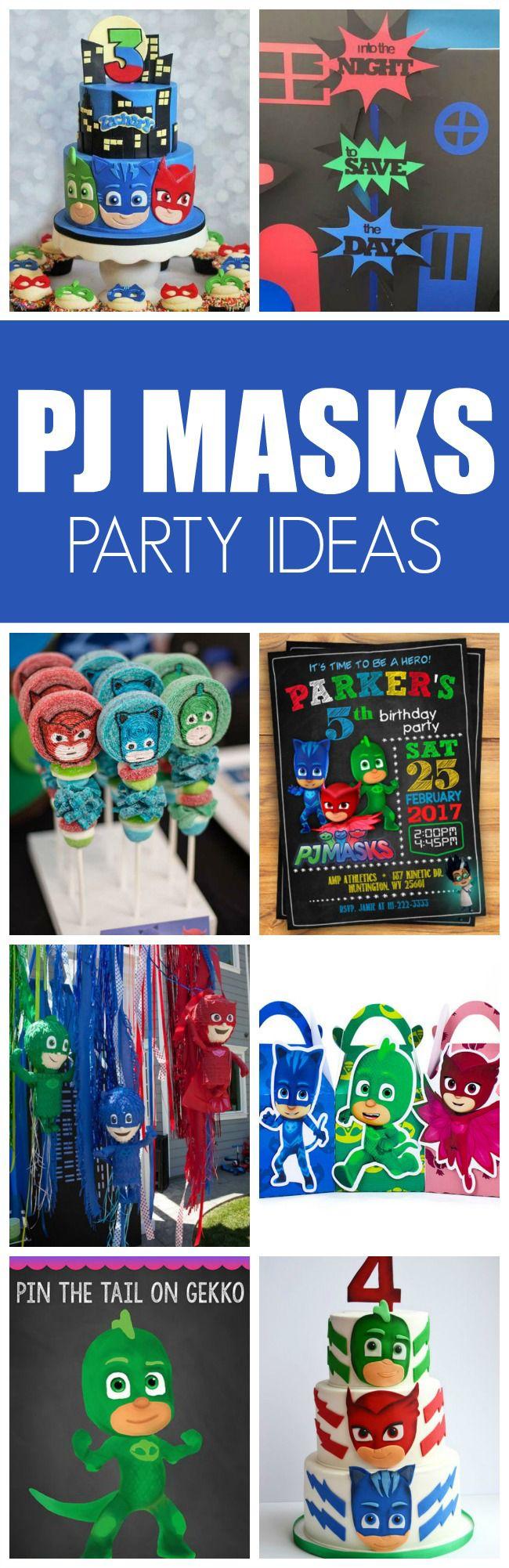 13 Fun Pj Masks Party Ideas Party Masken Kinder